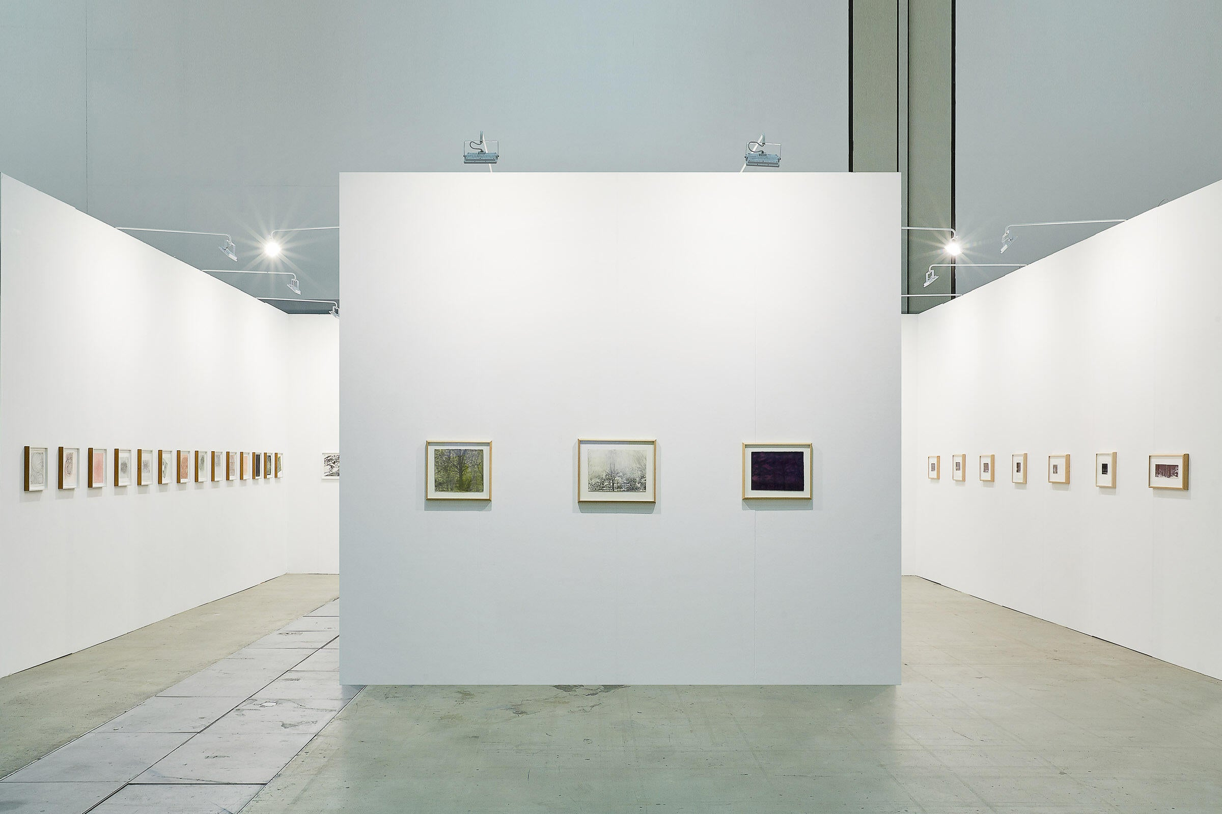Installation of Drawings by Marie Cloquet, Linn Meyers, and Charles Ritchie at Art Busan 2020, Busan, South Korea image