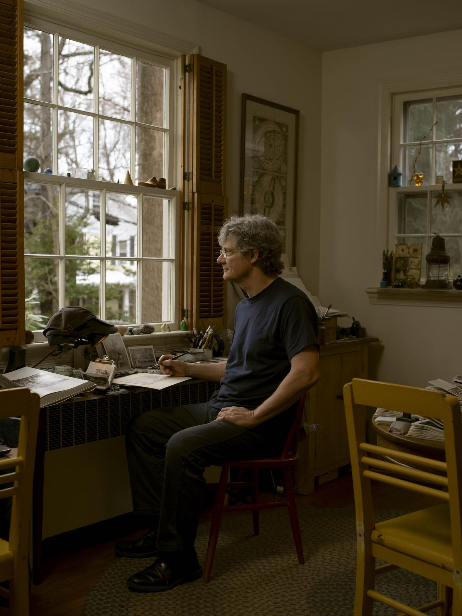 Photograph of the Artist Looking out of His Studio Window, 2020 image