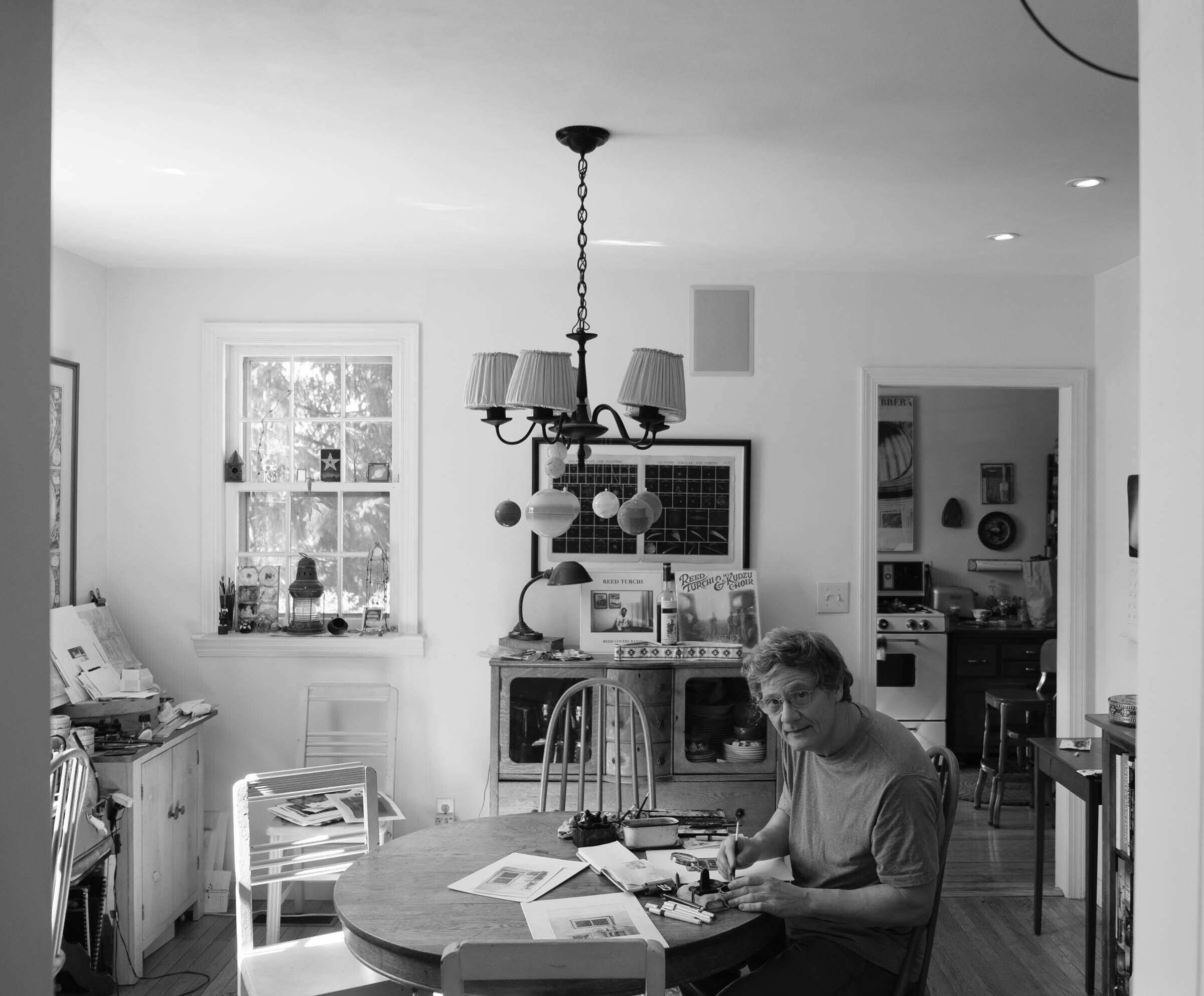 Photograph of the artist in his studio, March 2020. See Instagram Artist Feature @Jason Haam. image