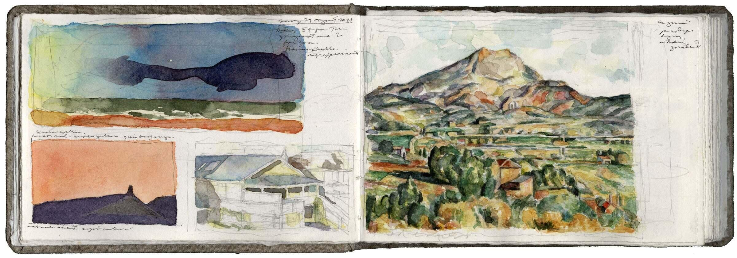Color Sketches and a Study after Cézanne image