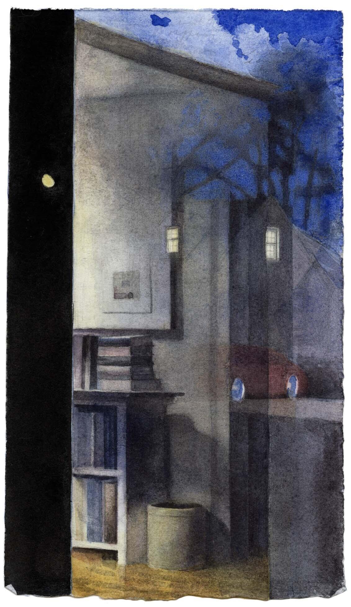 Gibbous Moon with Reflection I image