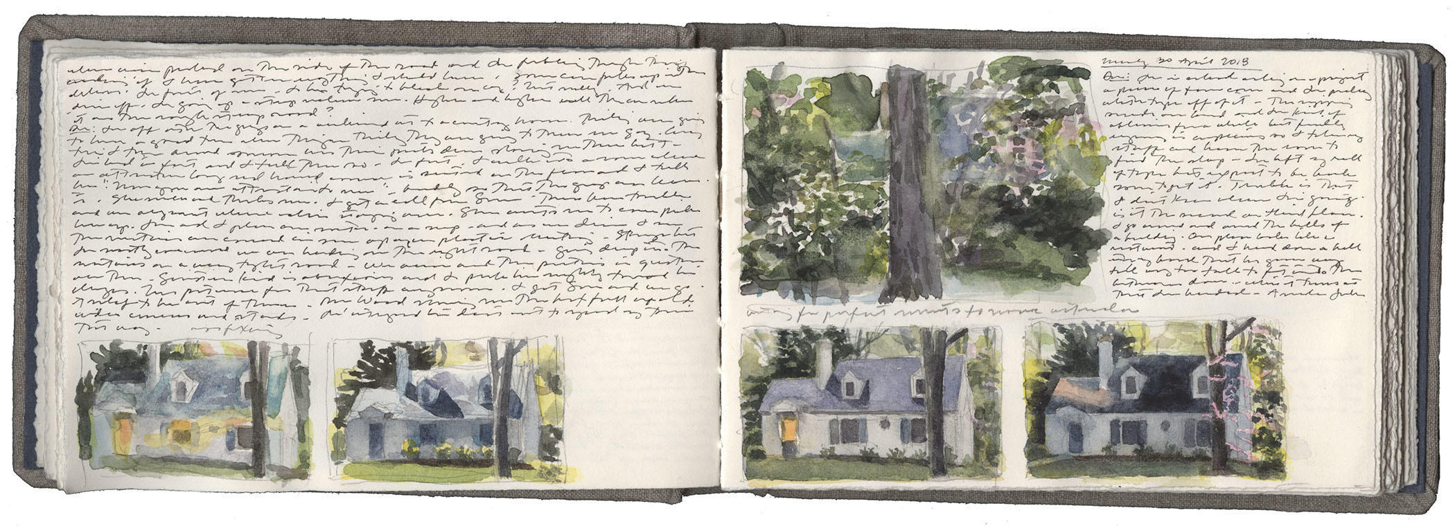 Studies of Houses in Spring image