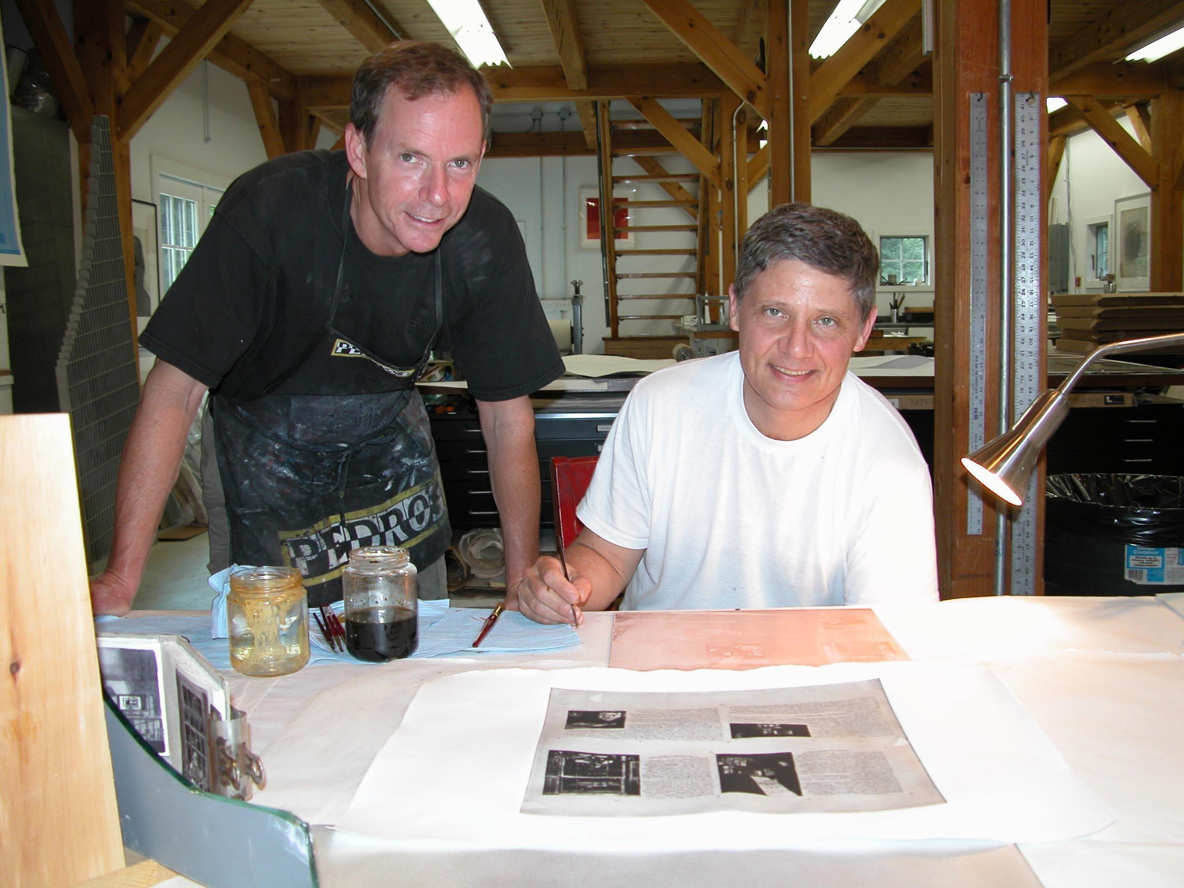 Photograph of James Stroud and Charles Ritchie at Center Street Studio, Milton, MA in May 2008 image