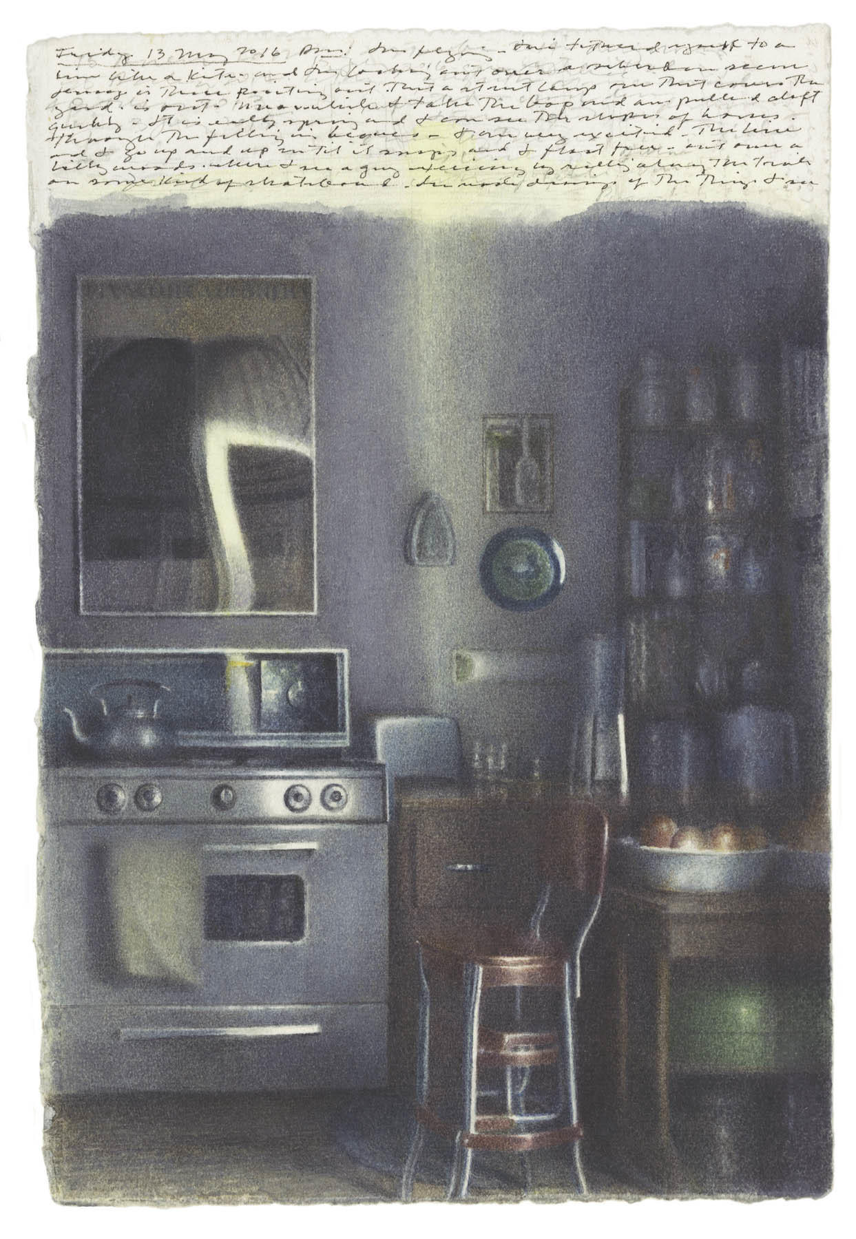 Kitchen with Shadows and Reflections image