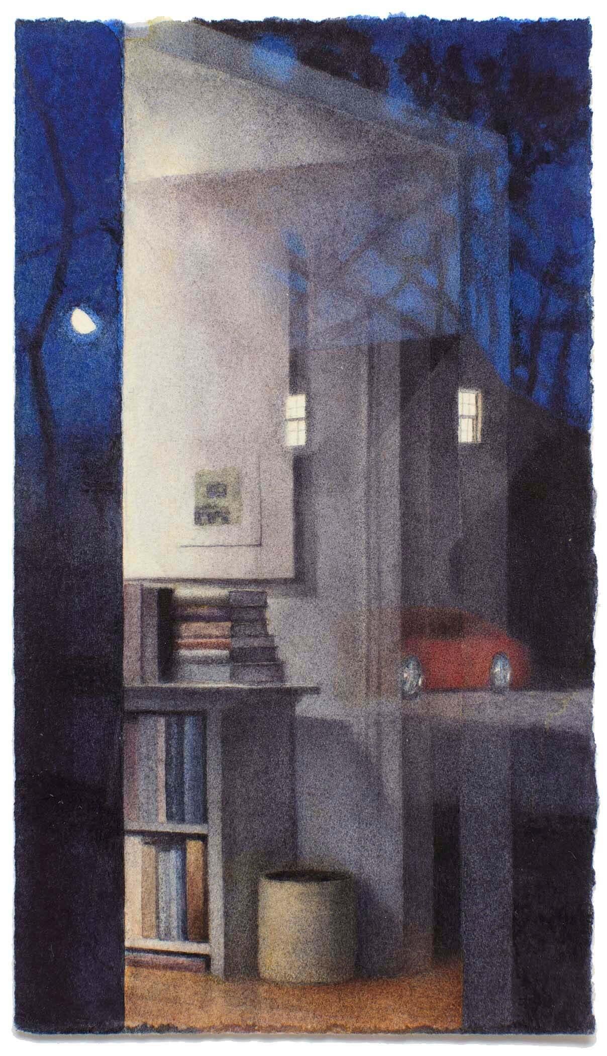 Reflection with Gibbous Moon II image