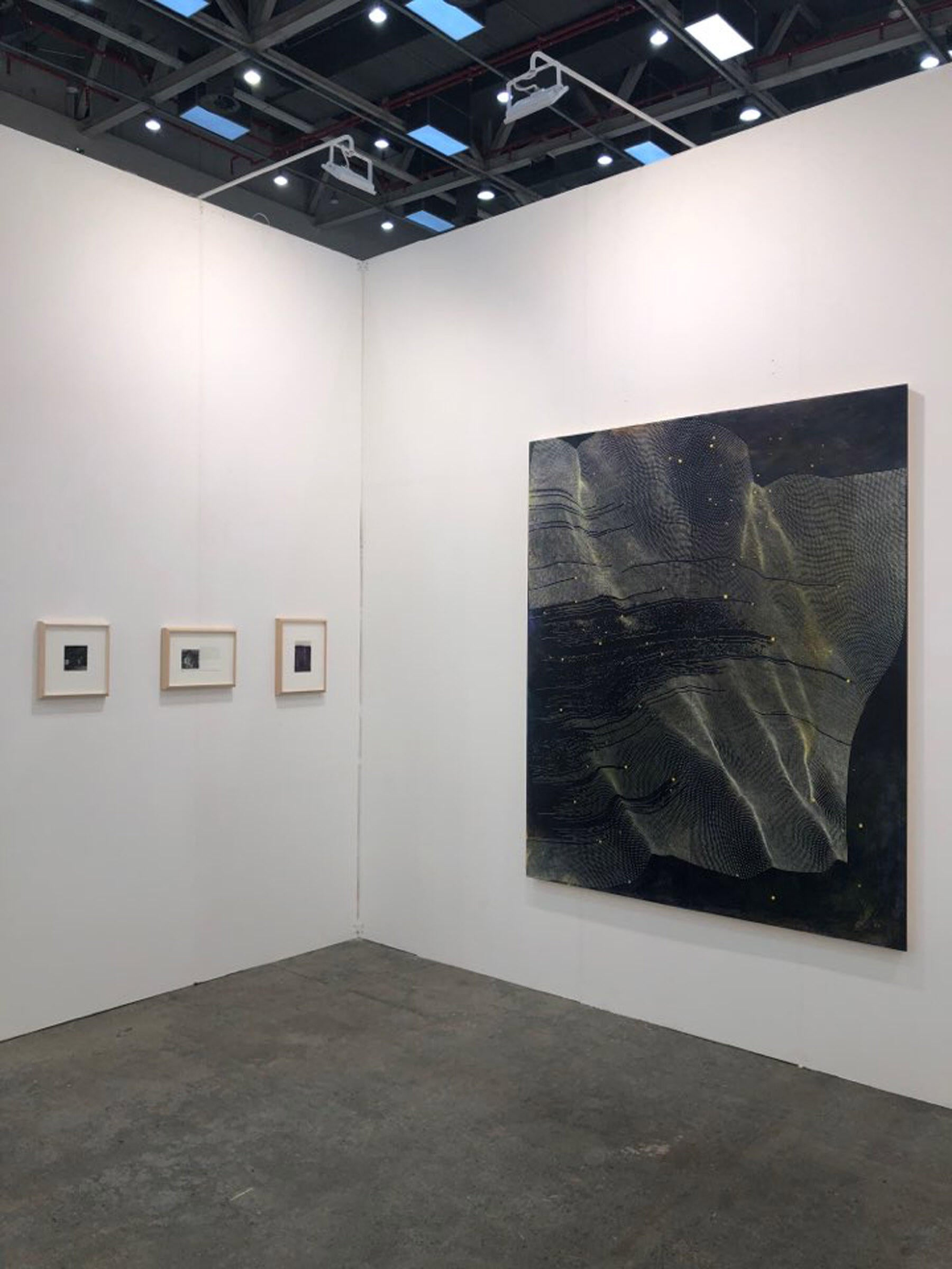 Installation of Drawings by Charles Ritchie and a Painting by Linn Meyers at Daegu Art Fair 2020 image