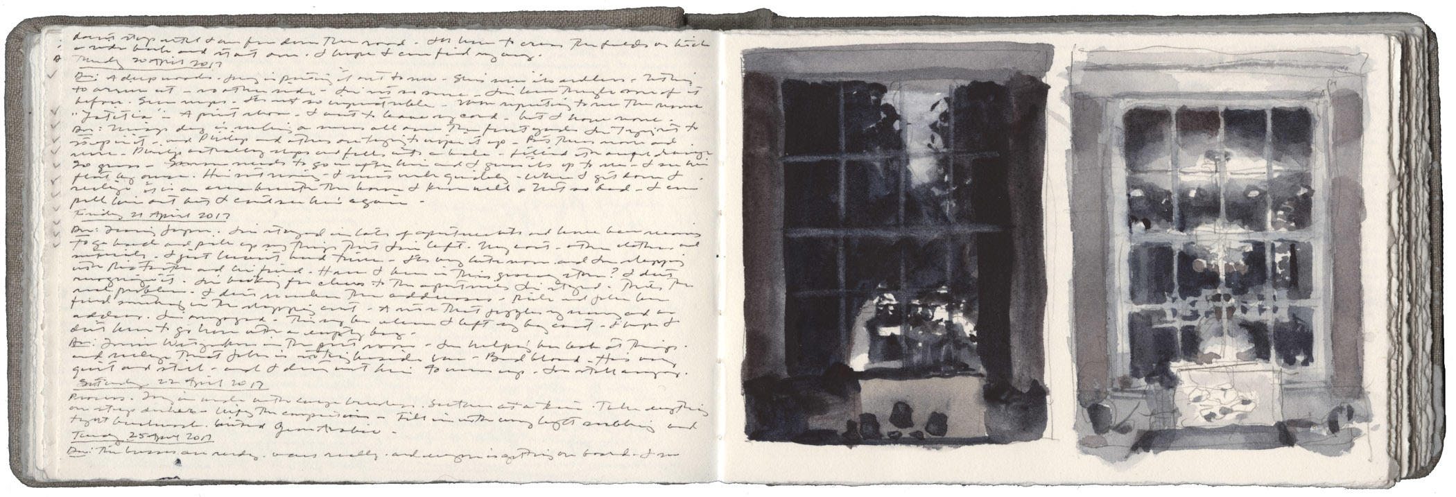 Two Studies of a Window in Early Spring image
