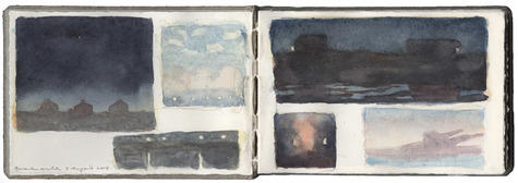 watercolor and graphite on Arches paper in bound volume