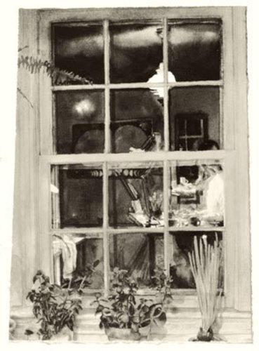 Self-Portrait in Studio Window image