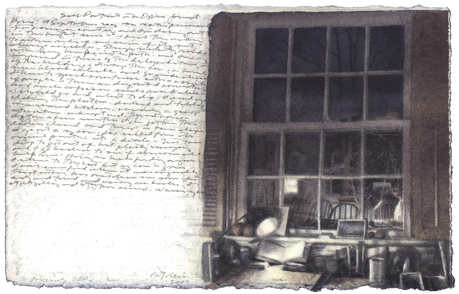 Self-Portrait with Open Journal image