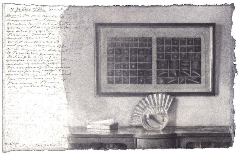 Astronomical Chart, Fan, Bowl, and Book image