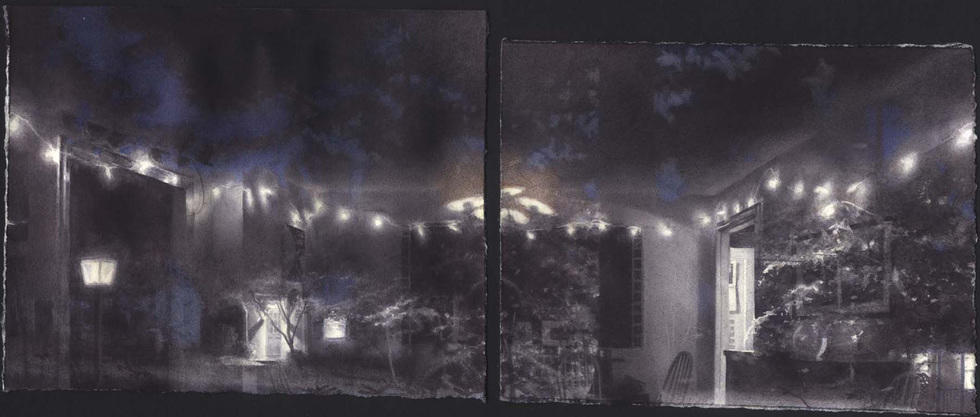 Self-Portrait with Night: Two Panels II image