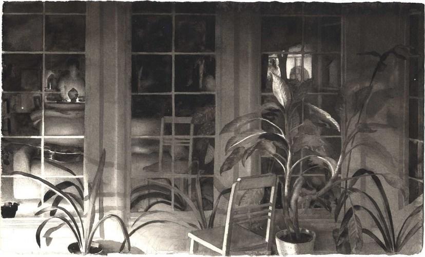 Night Studio with Plants image