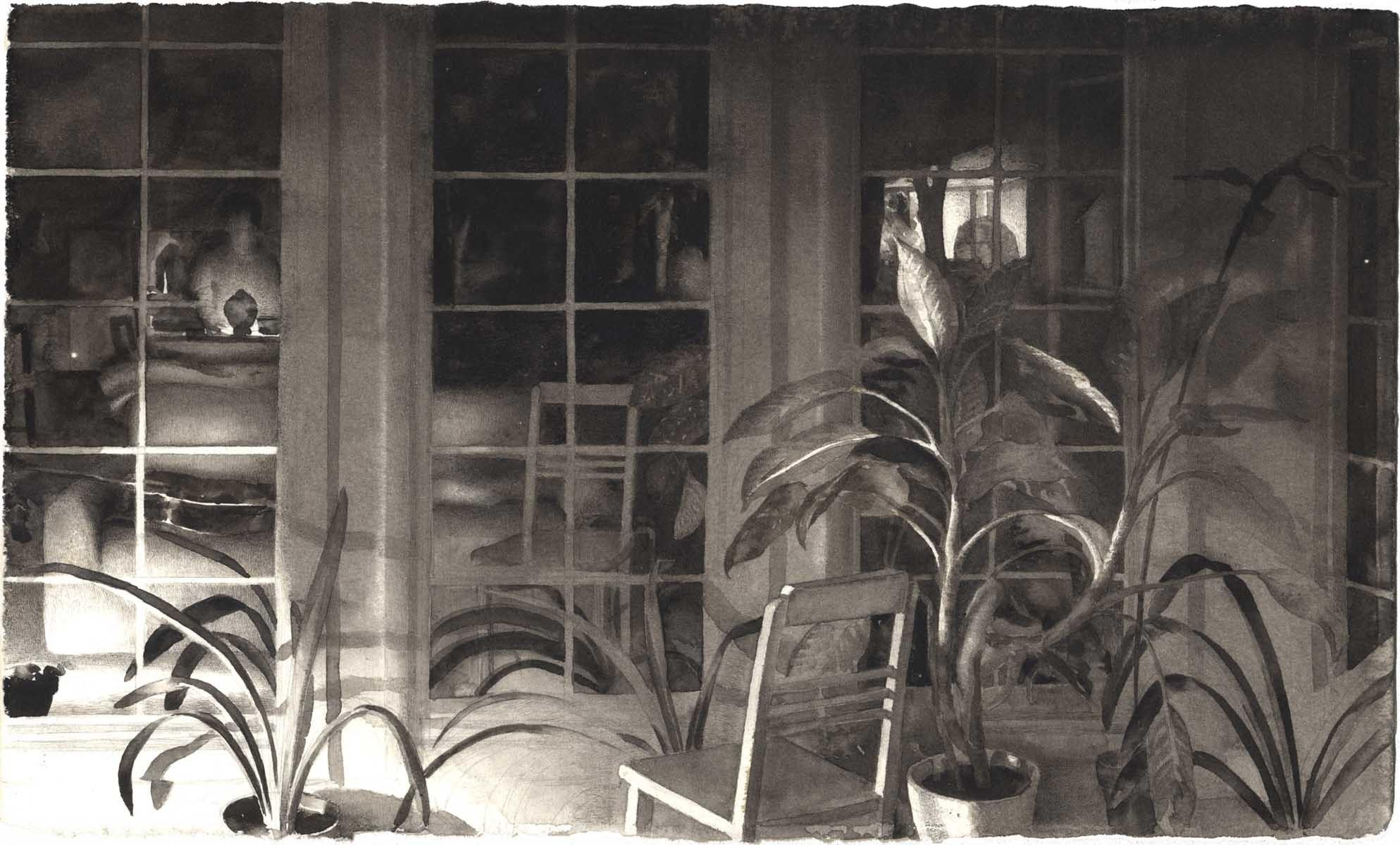 Night Studio with Plants image