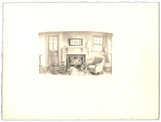 Day Interior: Graphite and Pen and Ink image