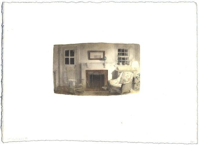 Night Interior: Watercolor image