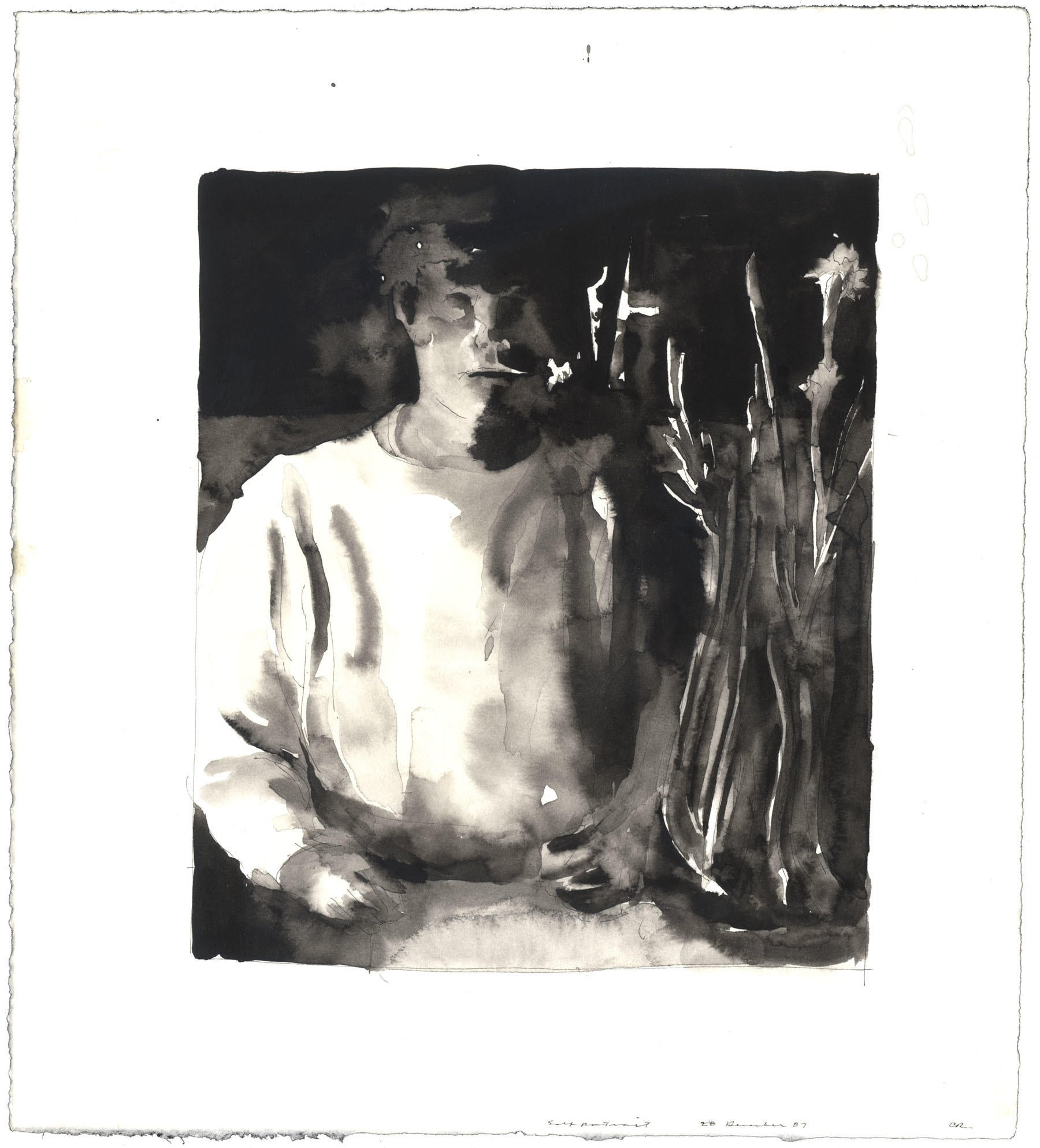 Large Self-Portrait with Paper Whites image