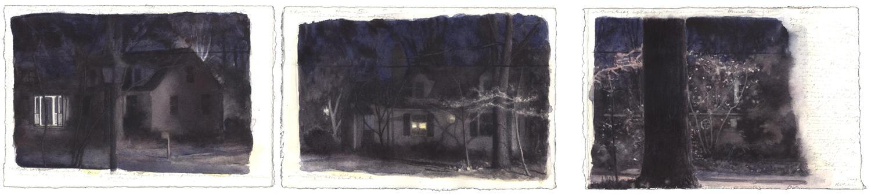 Spring Night: Three Panels image