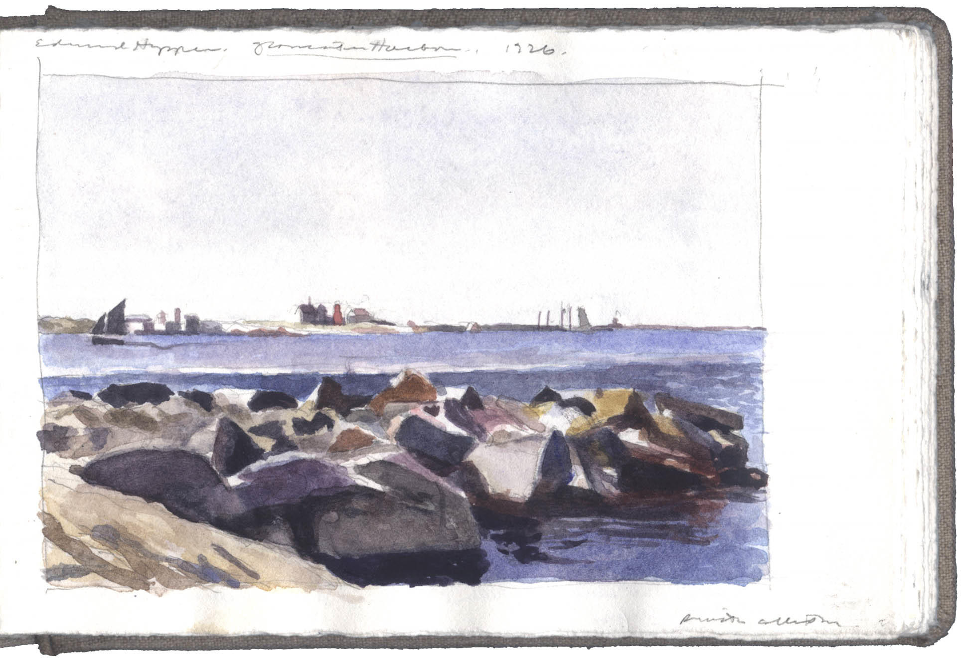 Study after a Watercolor by Edward Hopper image