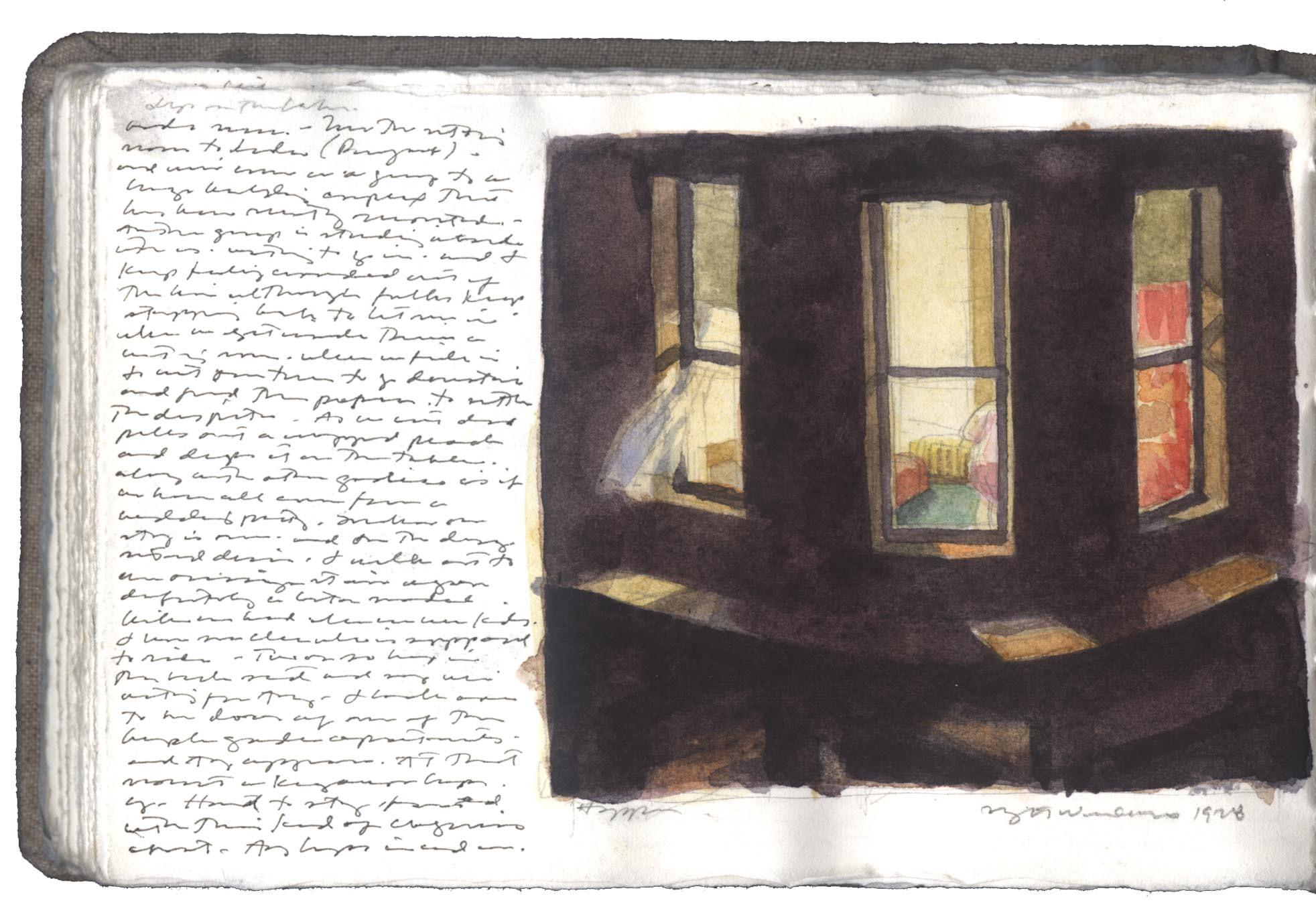 Study after Night Windows by Edward Hopper image