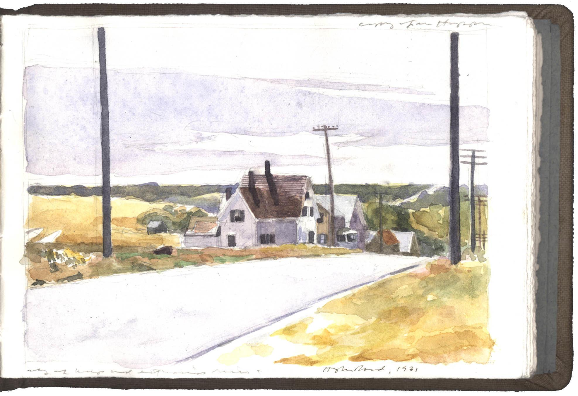 Copy after Edward Hopper watercolor image