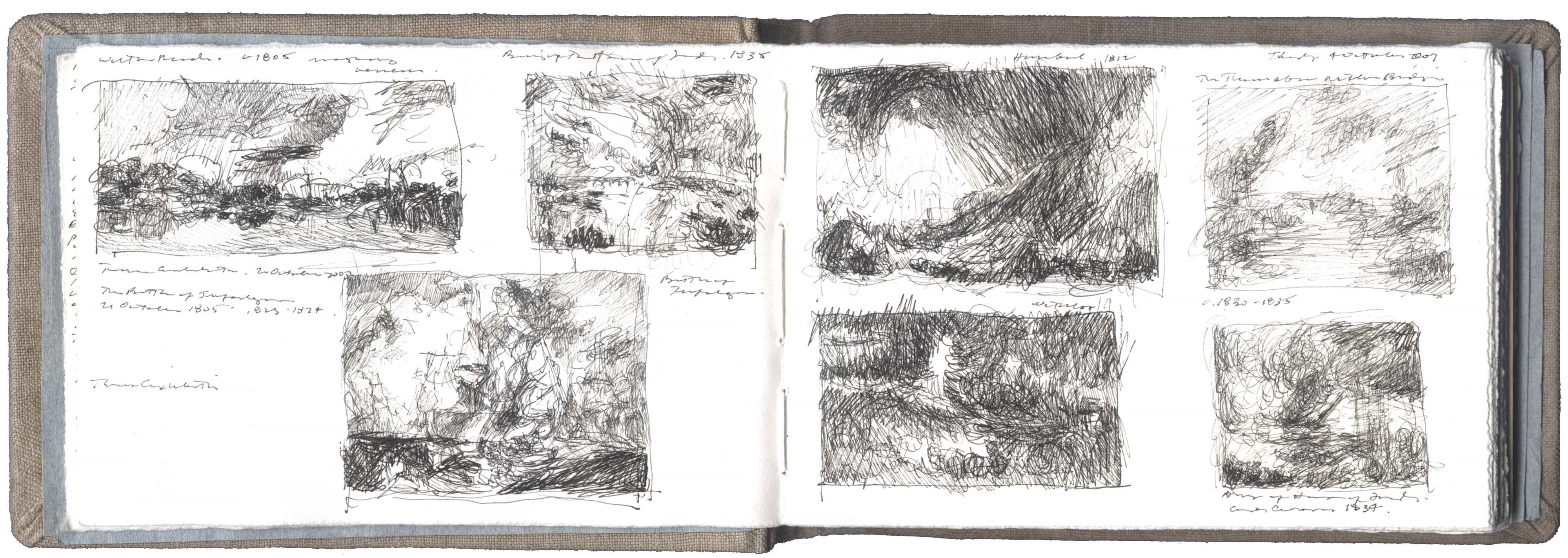 Seven Sketches after Works by J.M.W. Turner image