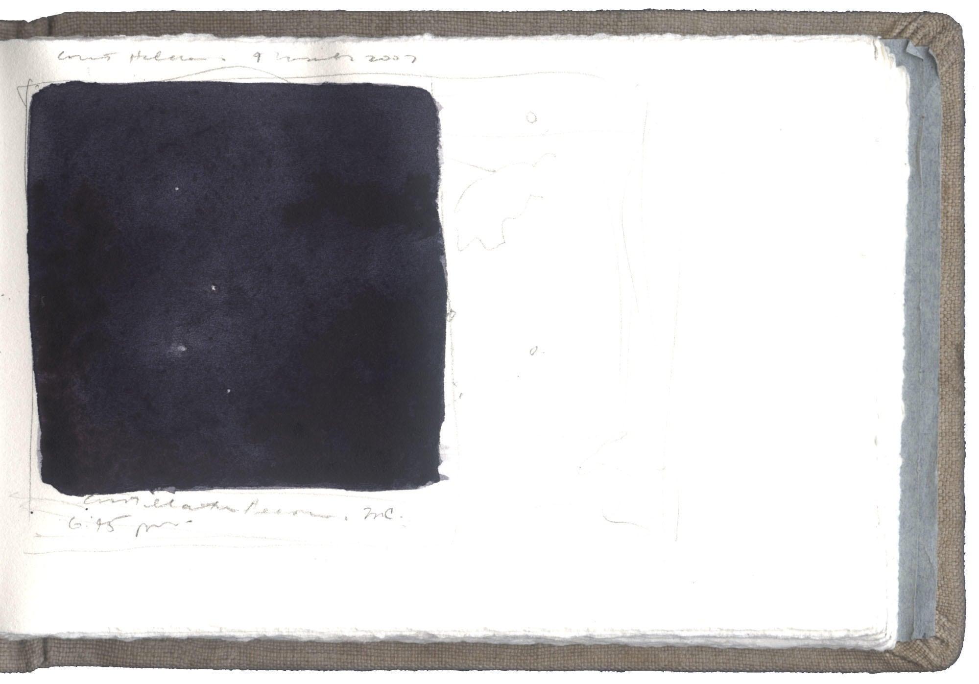 Sketch of Comet Holmes image