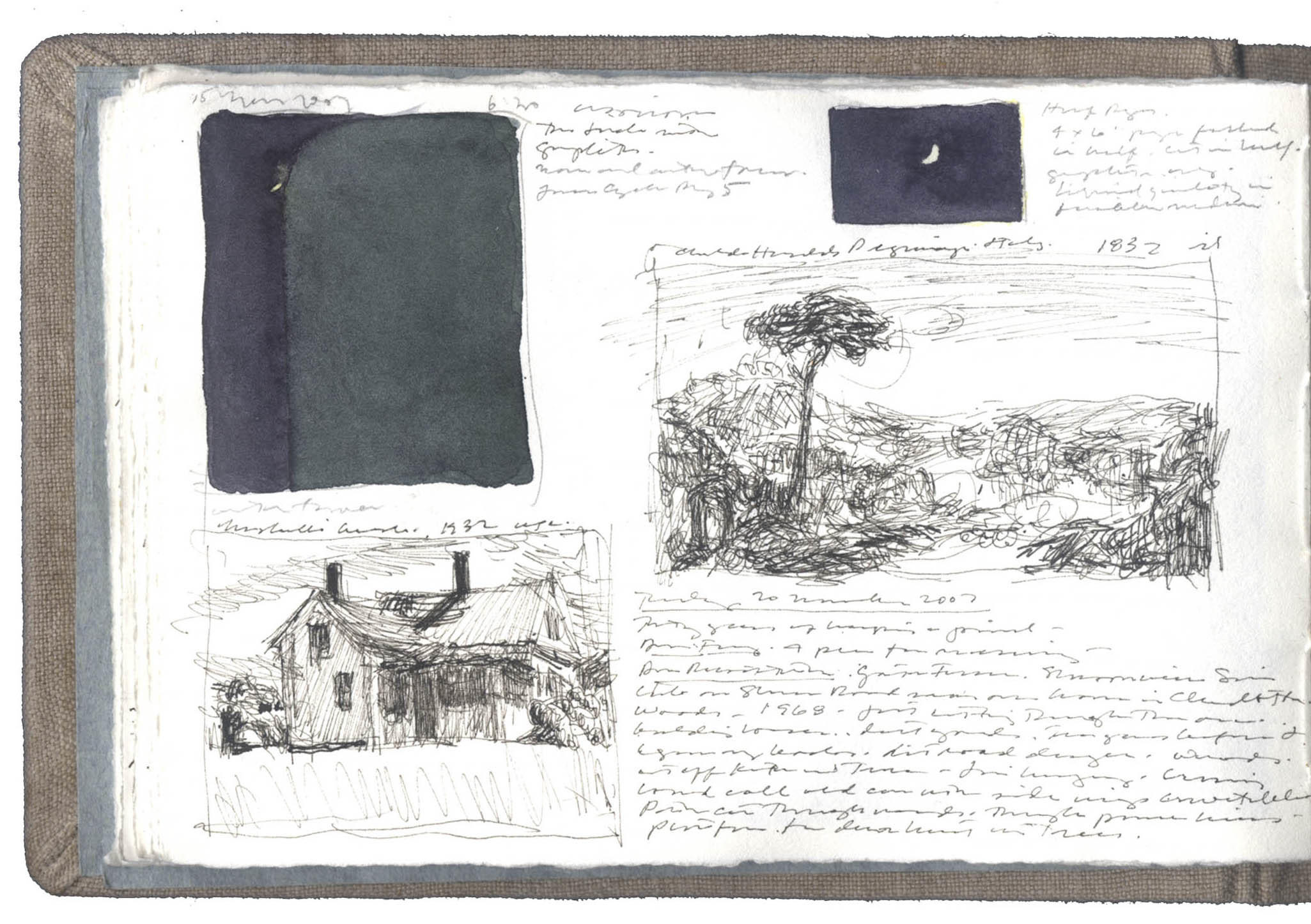 Various Studies Including Water Tower and Crescent Moon image