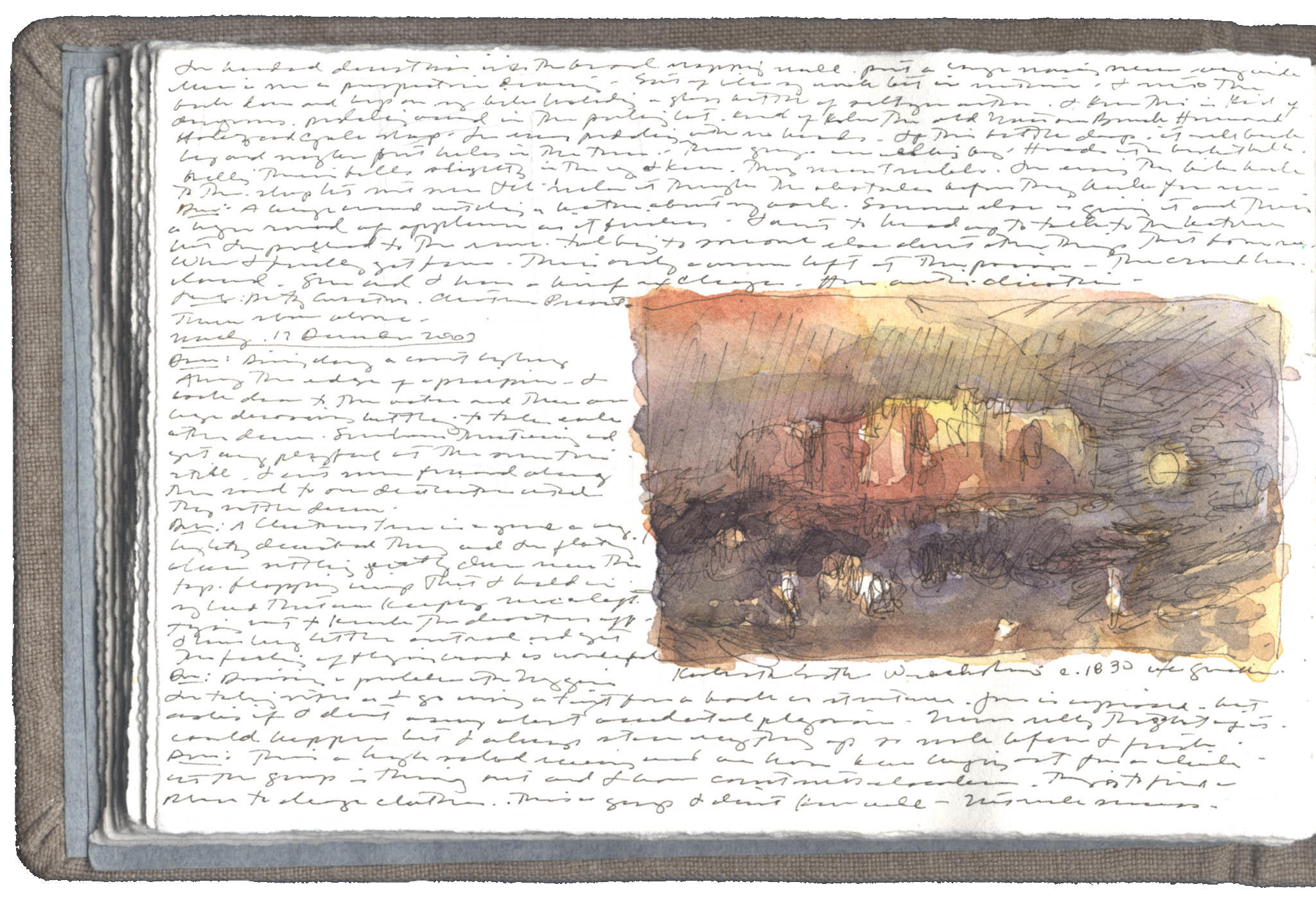 Study after a Watercolor by J.M.W. Turner image