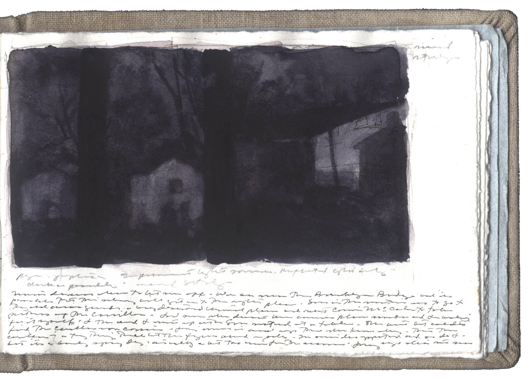 Second Study for Houses and Sheds: Winter Night image