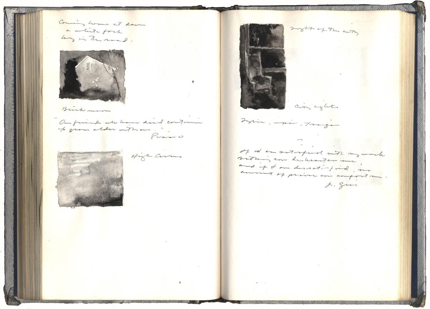 Two Pages of a Journal with a Study for Rocking Chair image