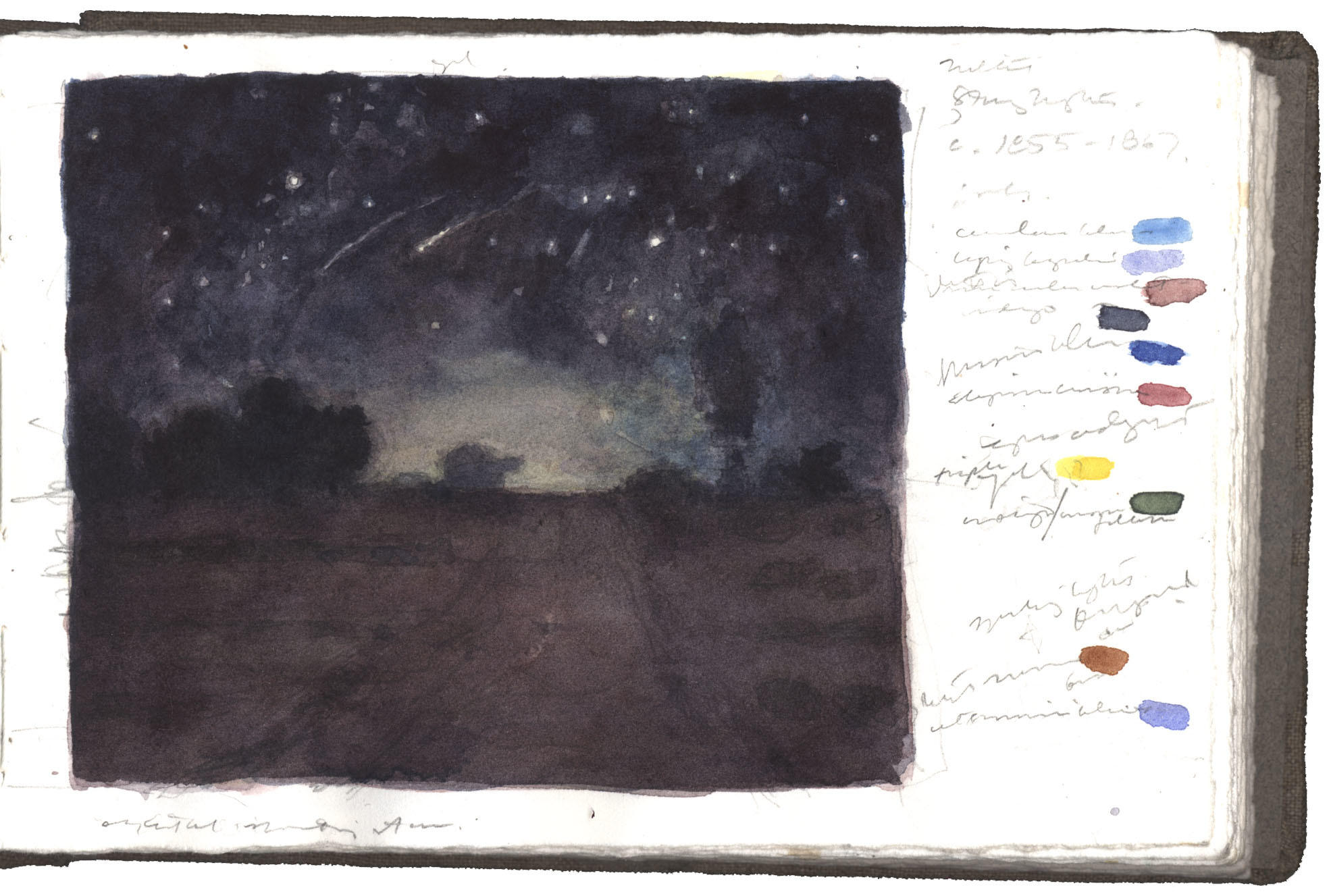 Study after Starry Night by Jean-François Millet image