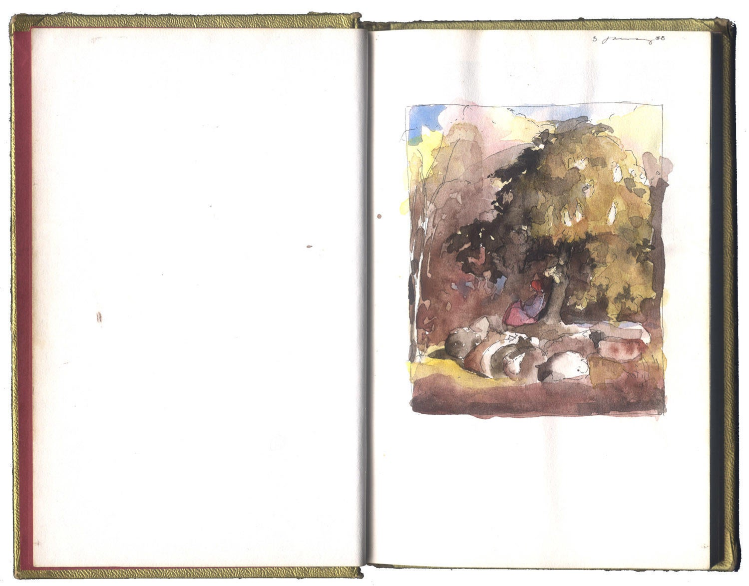 Study after a watercolor by Samuel Palmer image