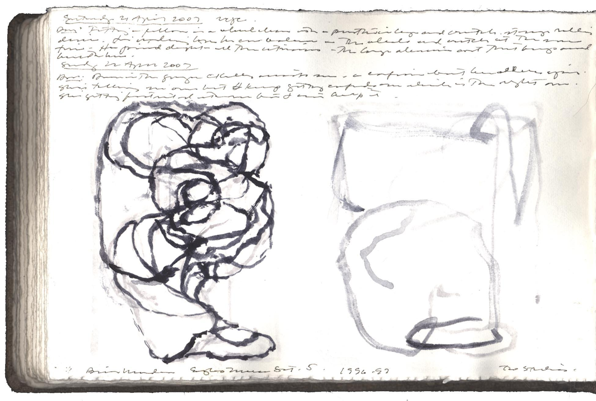 Two Studies after a Drawing by Brice Marden image
