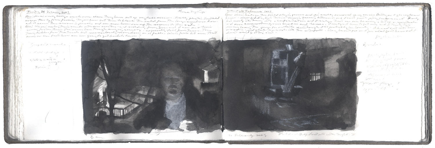 Study for Folded Self-Portrait with Night III image