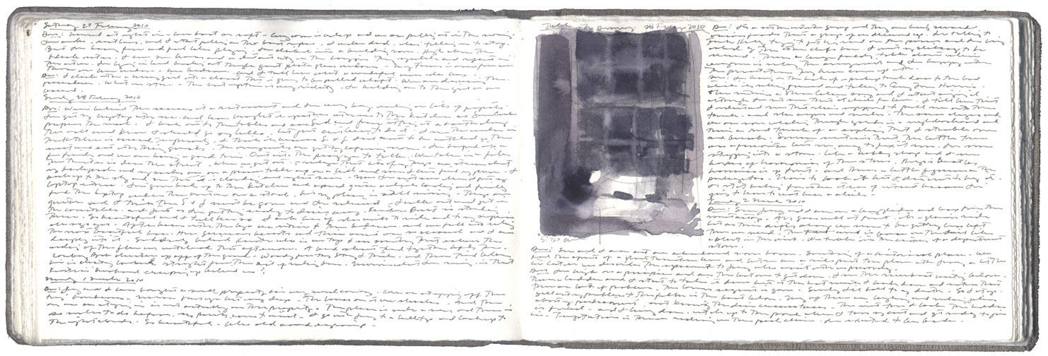 Two Pages of Dreams and a Study of Lamp and Worktable image
