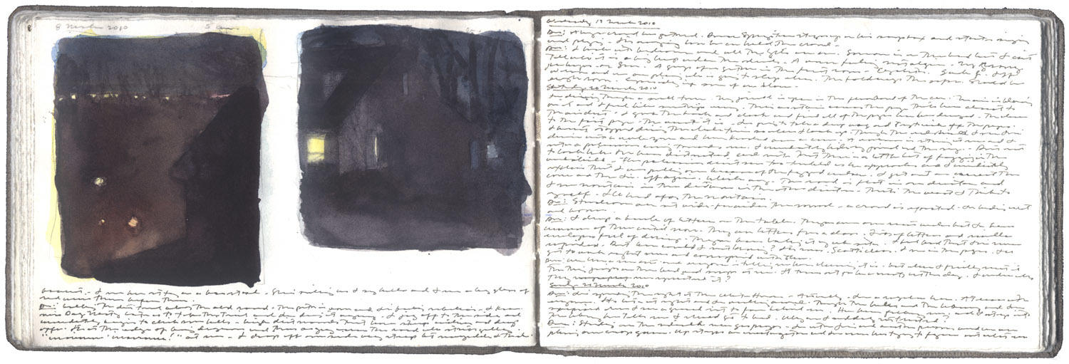 Two Studies of Houses at Night image