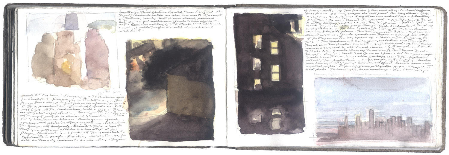 Two Pages of Studies of San Francisco image