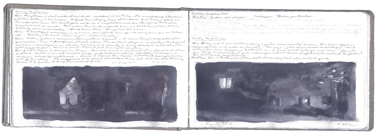 Two Studies for a Nightscape image