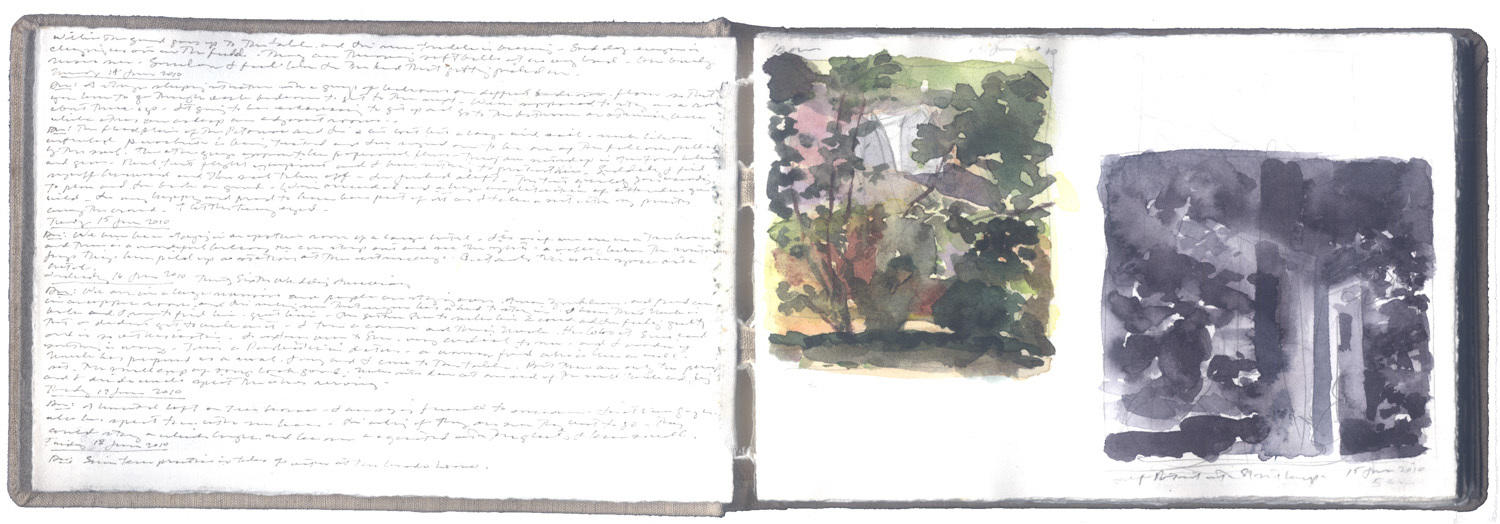 Two Studies for a Summer Landscape image