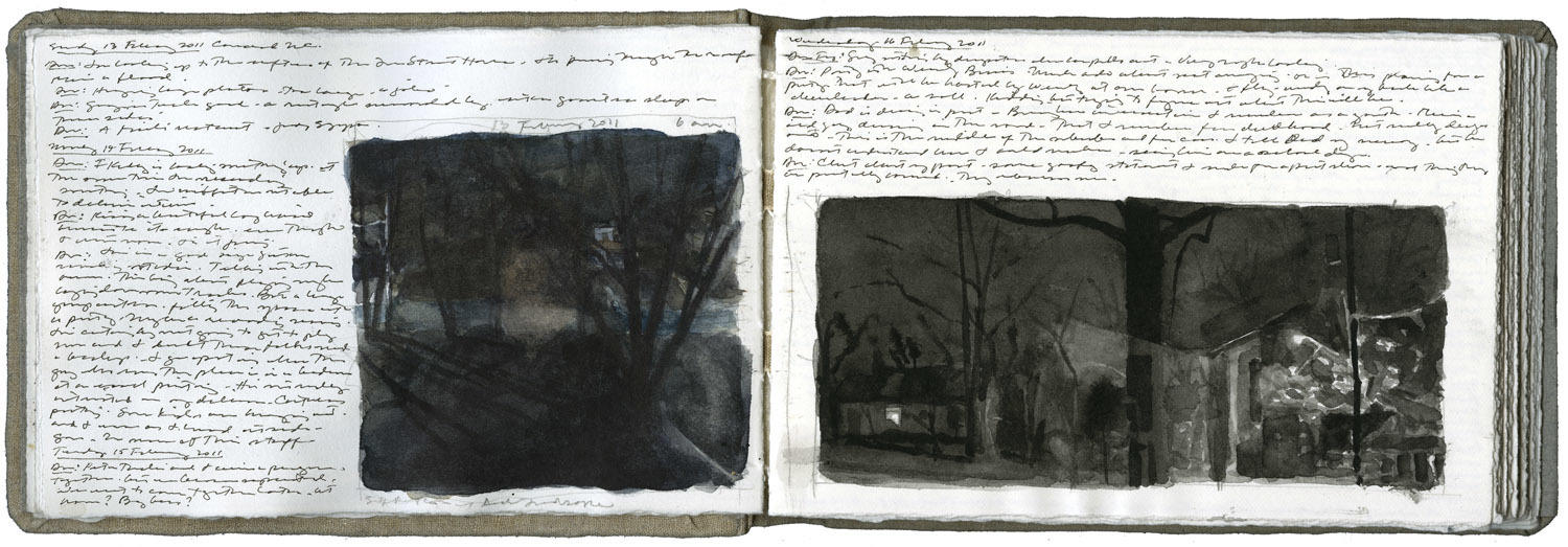 Study for a Self-Portrait and a Landscape image