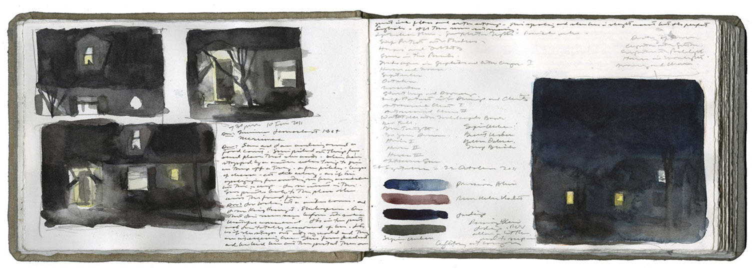 Studies of a House at Night image