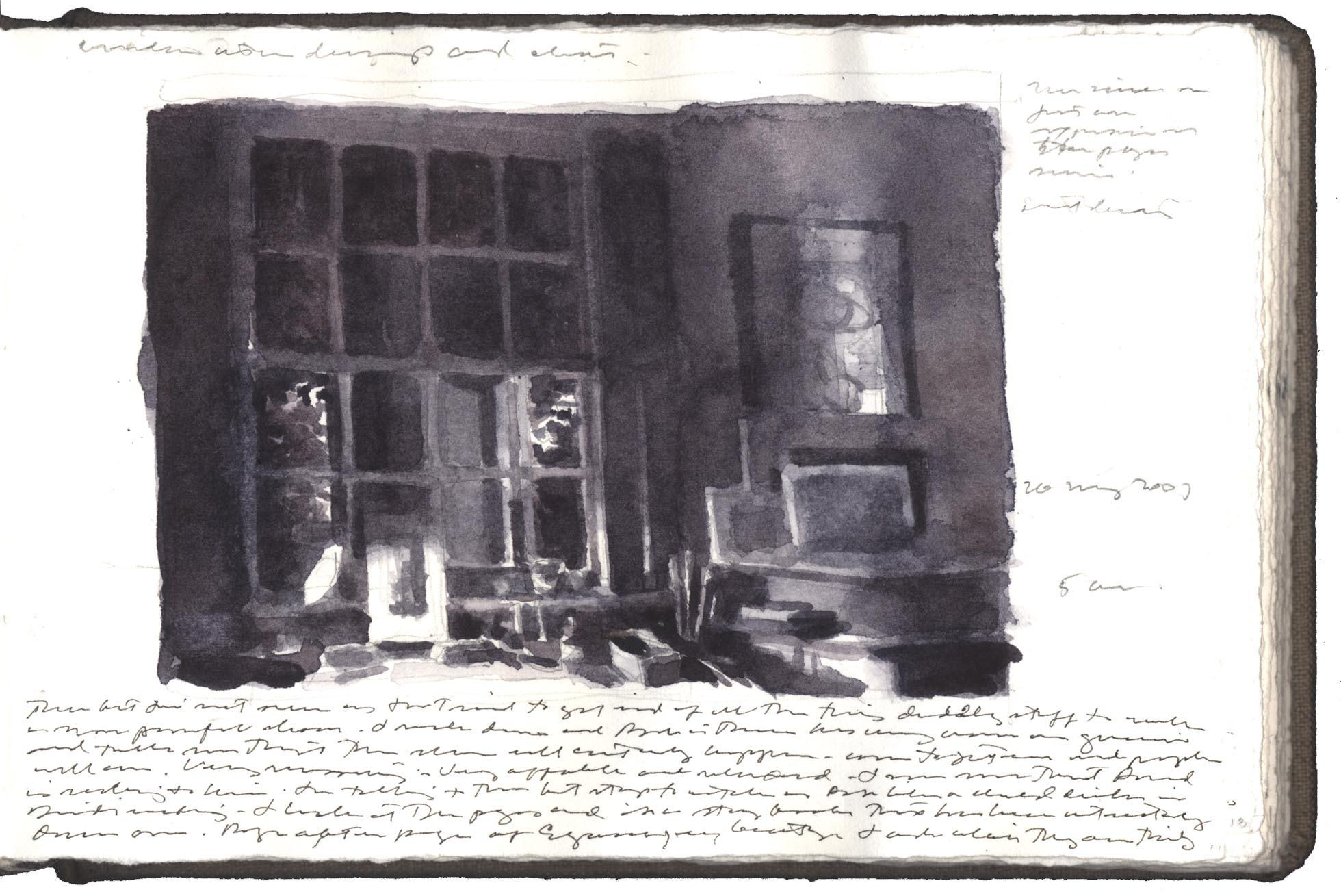 Study for Window with Drawings and Chart image