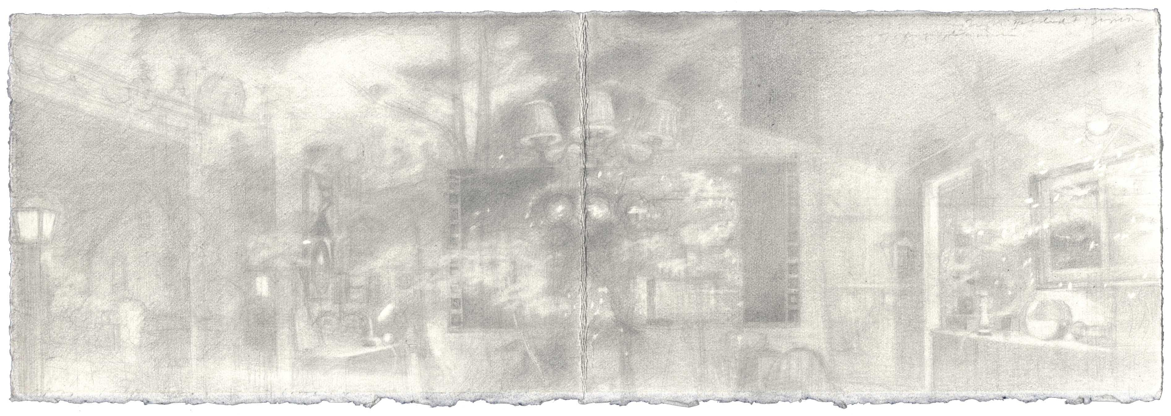 Folded Self-Portrait with Night I: Graphite image