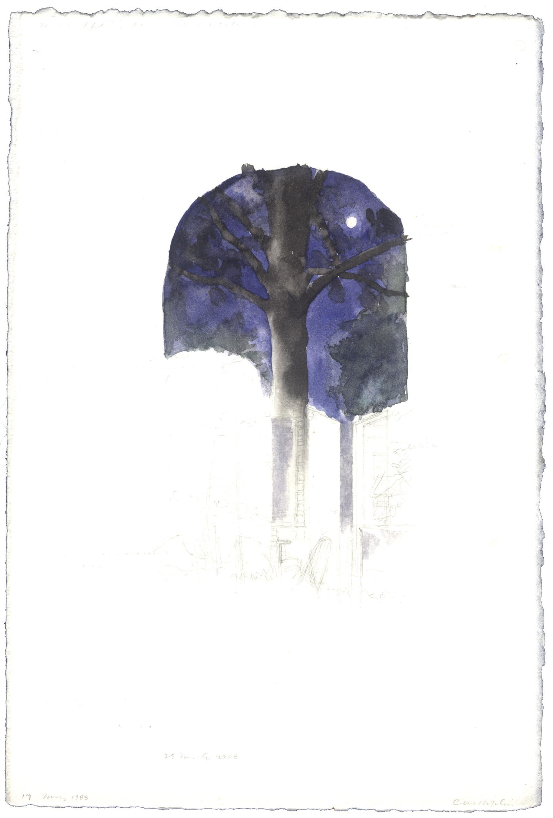 Self-Portrait with Full Moon and Tree image