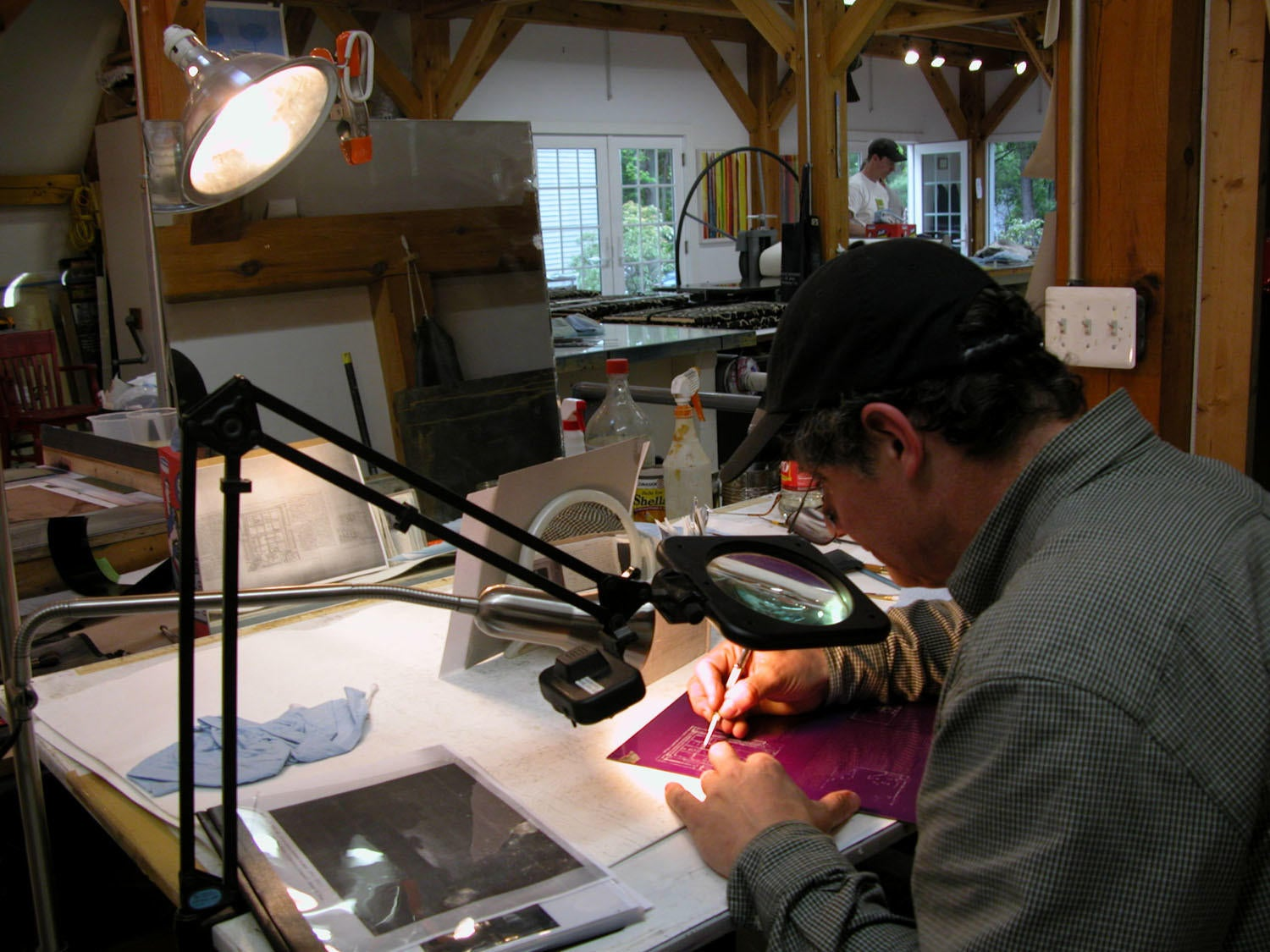 Photograph of the Artist at Work, Center Street Studio image