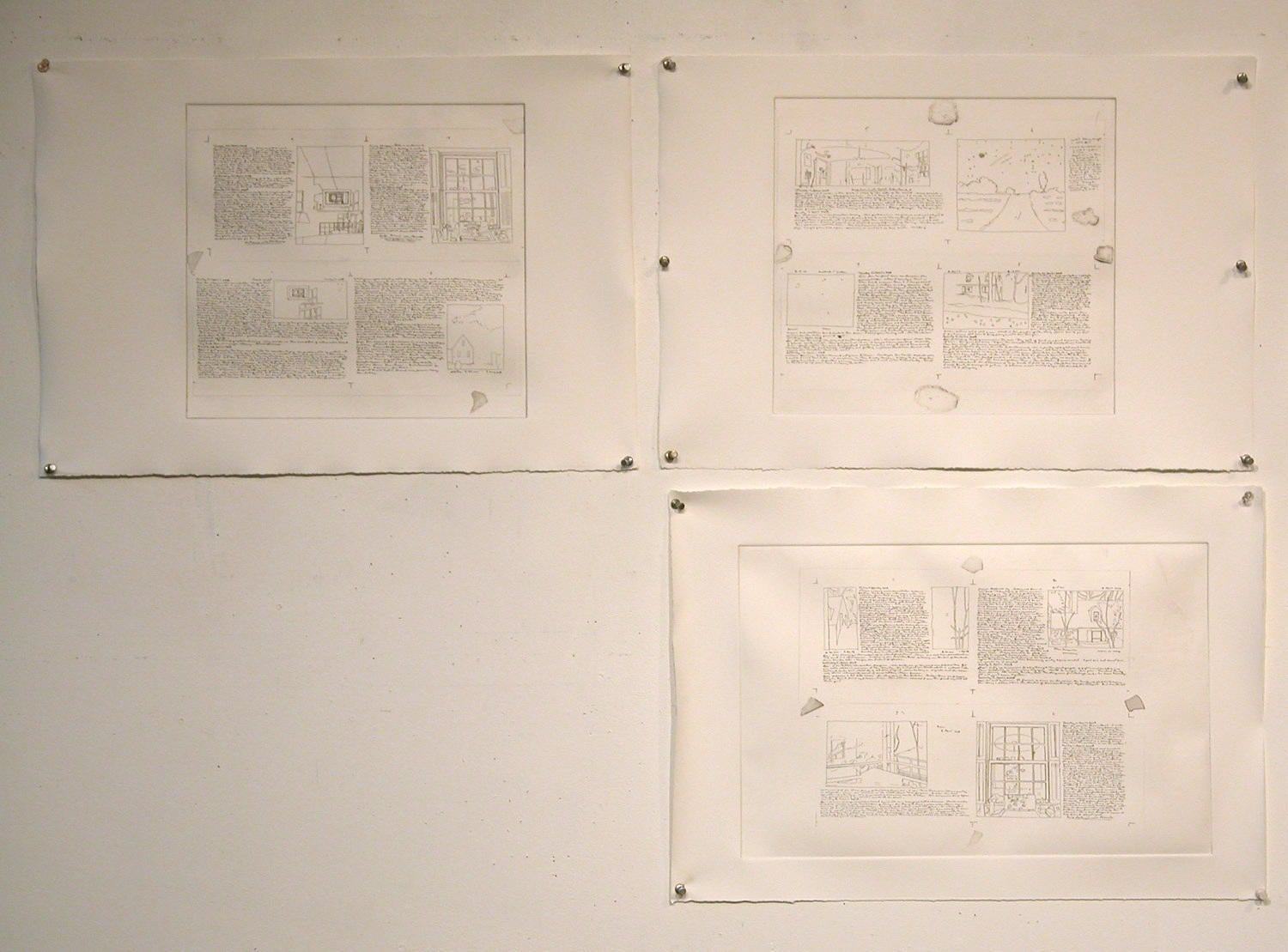 Three Etchings for Accordion Book Project image