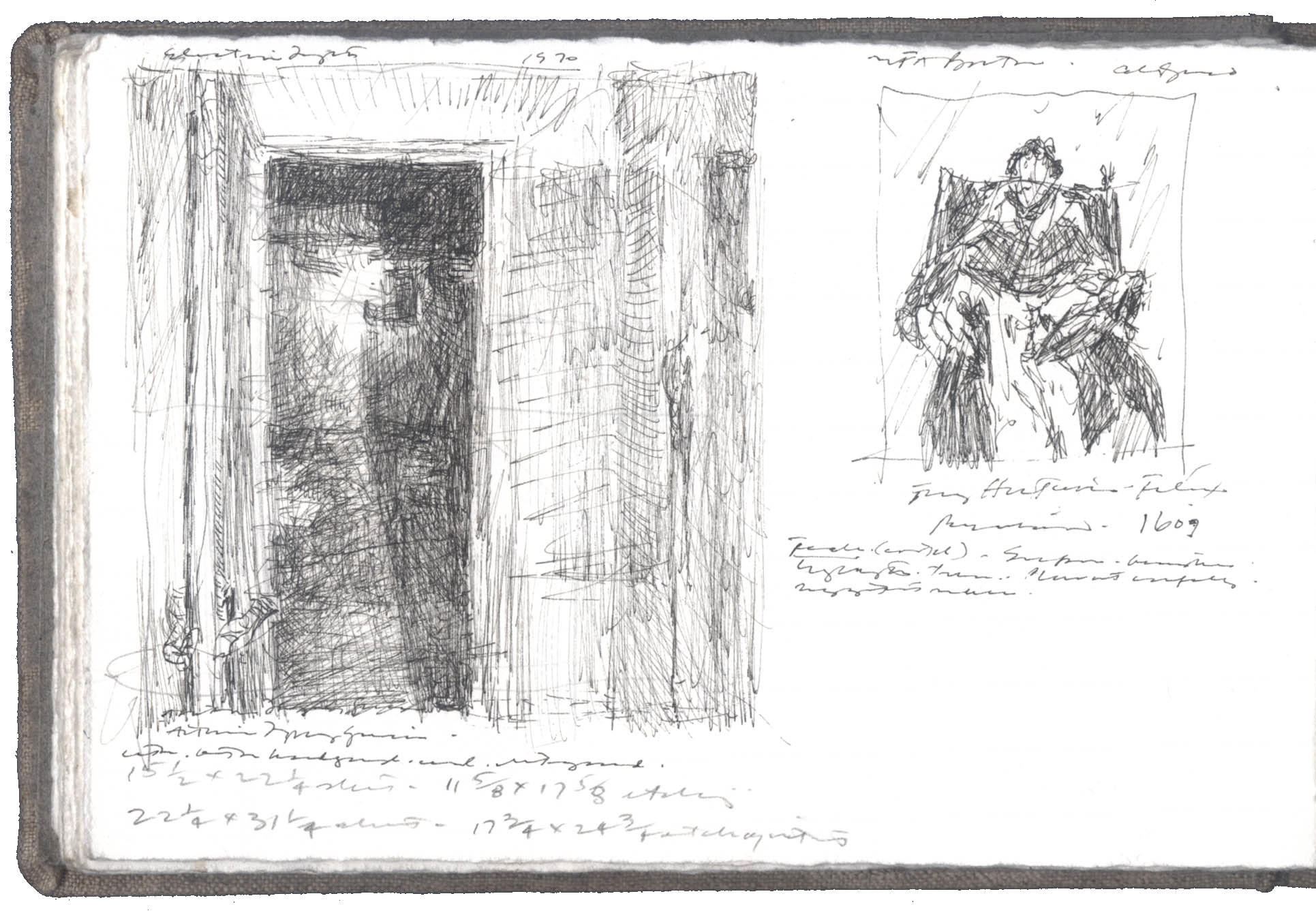 Sketches after works by Garcia-Lopez and El Greco image