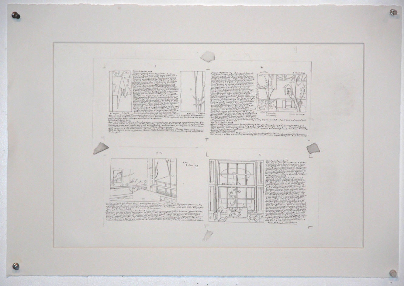Panels 1-4, Accordion Book print image