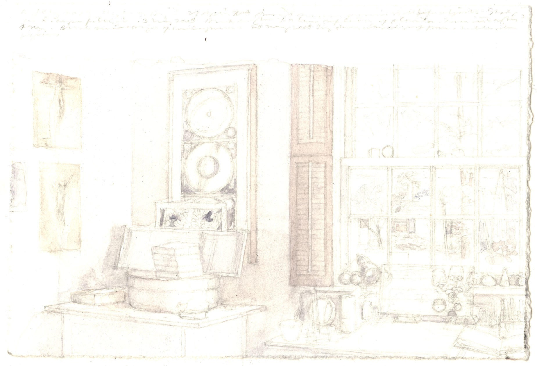 Interior with Stack of Journals image